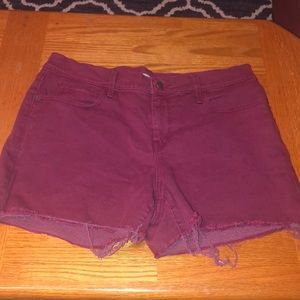 OLD NAVY red shorts denim